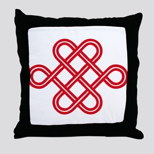 endless love knot Throw Pillow